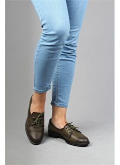 Modabuymus Modabuymus Hakiki Deri Oxford Günlük Kadın Ayakkabı - Furlayn
